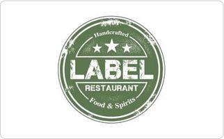 Label Restaurant Gift Cards