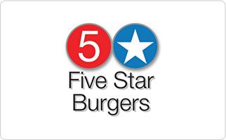 Five Star Burgers Gift Card