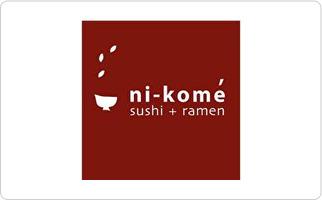 Ni-Kome Sushi + Ramen Gift Card