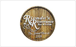 Riondo's Ristorante Gift Certificate