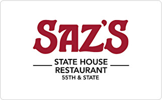 Saz's State House Restaurant Gift Card