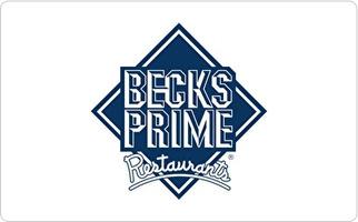 Becks Prime Gift Card